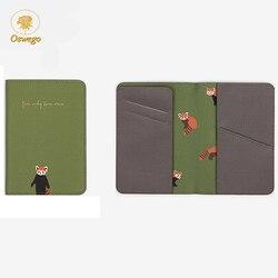 Освего с милым принтом Для женщин Обложка для паспорта из искусственной кожи держатель карты путешествий Обложка для паспорта обложка на п...