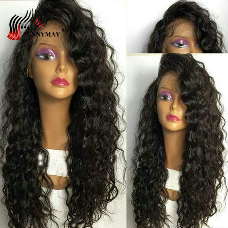 Sunnymay Loose Wave Lace Front Mänskliga Hårperor För Kvinnor Med - Mänskligt hår (svart) - Foto 1