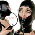 Máscara de látex de borracha capa anexado inflável Gag máscara de látex inflável personalizado