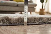 Nordic Solid Pile Plush Carpet Rugs For Living Room Large Size Anti-Slip Bedroom/Study/corridor Soft Carpets Child Bedroom Mat