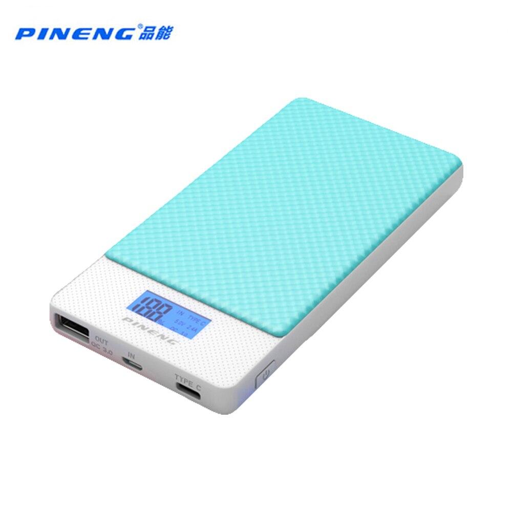 imágenes para PINENG 10000 mah Banco de la Energía de Dos vías de Carga Rápida PN 993 QC3.0 Li-Polímero Tipo de Batería Portátil c puerto Para iphone6s Mi Huawei Meizu