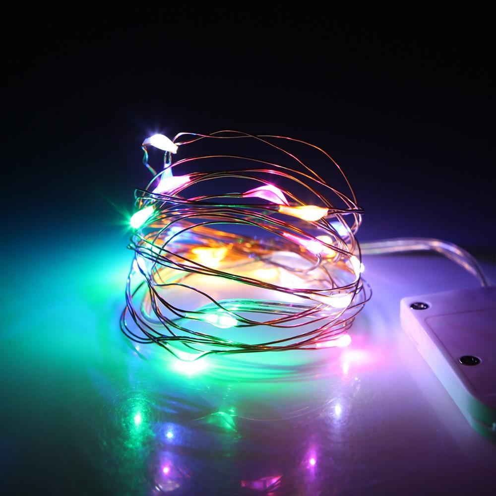 2M 20 LED LED Drut miedziany String Lights do dekoracji świątecznej - Oświetlenie wakacje - Zdjęcie 5