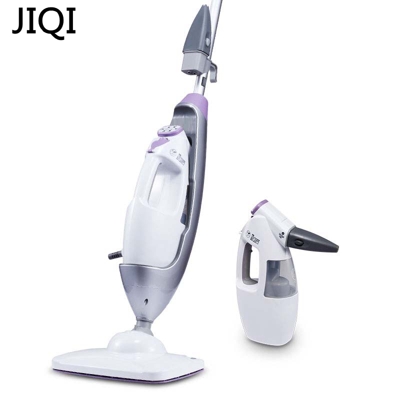 JIQI 1650W 340mL Steam cleaner Electric steam mop Household Cleaning machine Disinfector Sterilization 5m wire stand to clean cukyi household electric multi function cooker 220v stainless steel colorful stew cook steam machine 5 in 1