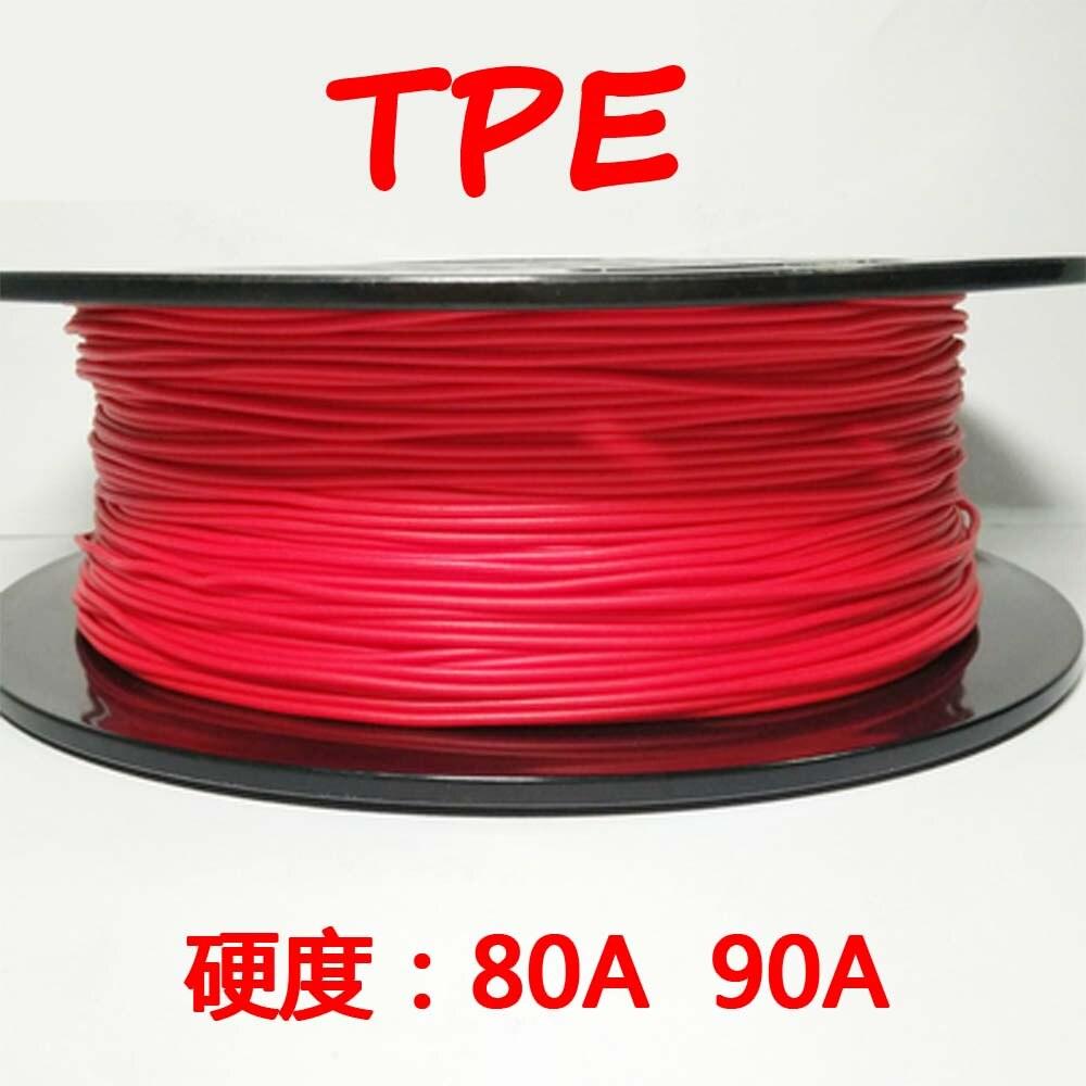 Gelernt 7 Optional Farbe 3d Drucker Filament 1,75 Mm Tpe Flexible Kunststoff Material Verbrauchs Für Makerbot Reprap Mendel Up Weder Zu Hart Noch Zu Weich
