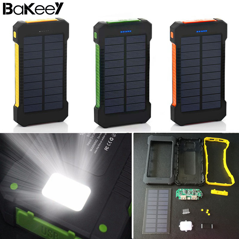 50000mah Solar Panel Led Dual Usb Ports No Battery Diy Power Bank Case Battery Charger Kits Box Moderate Price no Battery