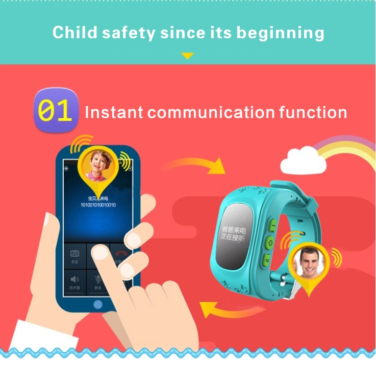 JH Anti Lost DT Q50 OLED Child GPS Tracker SOS Smart Monitoring Positioning Phone Kids GPS