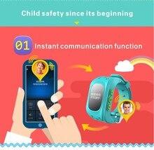 JH Perdida Anti DT-Q50 OLED Niño GPS Tracker SOS Inteligente Teléfono Niños de monitoreo de Posicionamiento GPS Reloj Compatible con IOS y Android