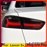 KOWELL car styling for Mitsubishi Lancer Ex Taillight of Audi A6 style Taillamp With Led Moving Signal light Rearlight 2008 2016