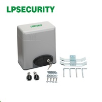 LPSECURITY 120V 230V gear driven home automation steel gate 600kg electric gate motor with 2 pcs of remote controllers