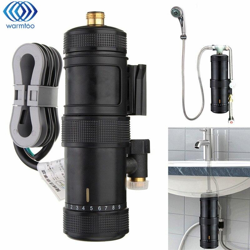 Chauffage instantané chauffe-eau électrique température réglable salle de bain bain douche robinet bassin mélangeur robinet 5500W cuisine