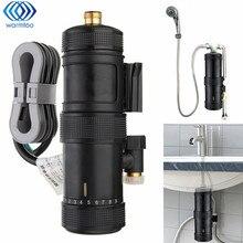 Мгновенный нагрев Электрический водонагреватель температура регулируемый Ванная комната для ванной Душ Нажмите бассейна смеситель кран 5500 Вт