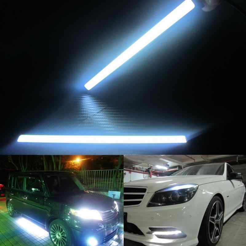 Newest Waterproof Ultra Bright 8000-9000K LED Daytime Running lights COB Day time DC12V Fog Auto Car DRL Lamp Source