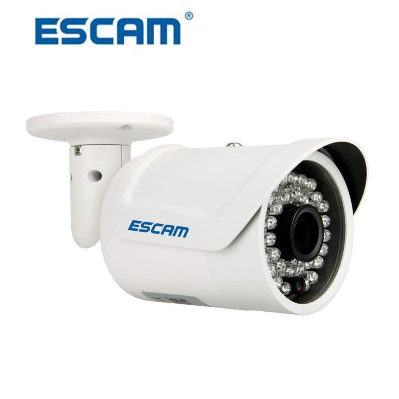 ESCAM Fighter IP Camera QD320 H.264 1MP HD 720P Day Night Vision IP66 Infrared Outdoor Waterproof Bullet Security CCTV Camera hjt hd 720p 1 0mp ip camera bullet security outdoor 3ir night vision cctv android ios p2p rtsp onvif2 1 h 264