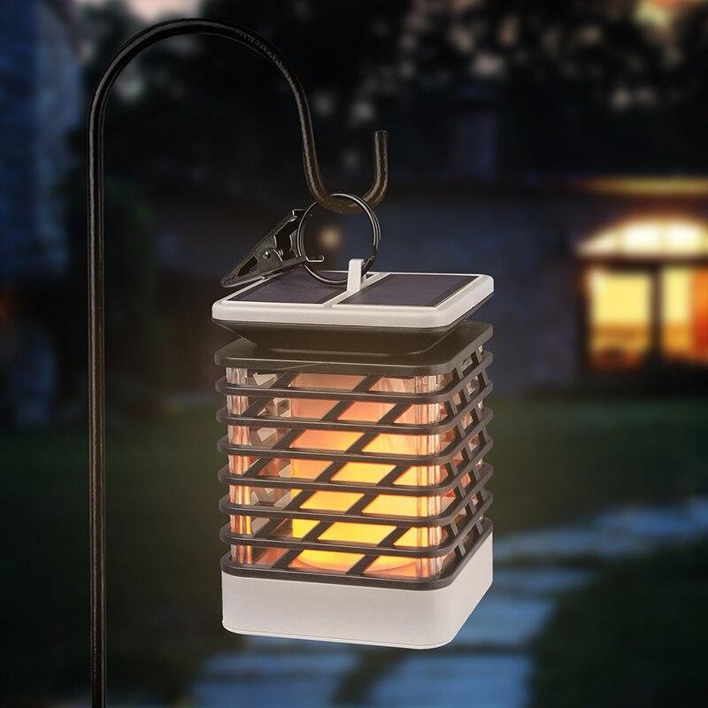 Led Landscape Lights Flickering: 2PCS 75 LED Garden Solar Light Flame Flickering Solar