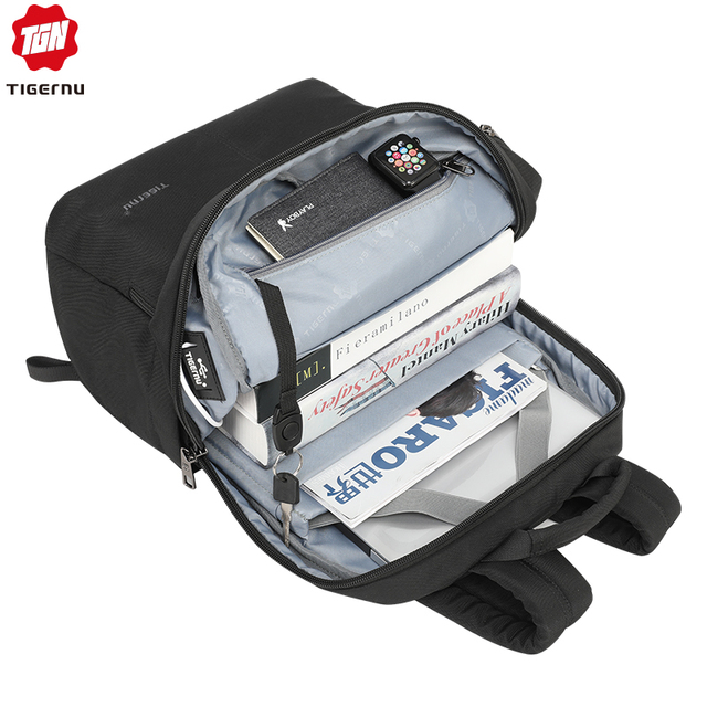 Tigernu 2019 New Fashion Backpack Men 4.0A USB Charging 15.6 inch Laptop Travel Bags Multifunction Male Female Schoolbags Casual 2