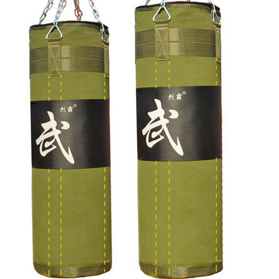 Hot 80cm/100cm/120cm Green Empty Sandbag Fight Taekwondo Karate MMA Sand Bag For Boxing Sanda Martial Arts Sandbag sac de frappe jduanl 1pc left right thick leg support boxing pads muay thai mma legs guards protector trainer combat sanda karate training deo
