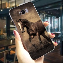 Running Horse Hard Case for Samsung Galaxy S9 Plus Pattern Phone Cover for Samsung Galaxy S10 Note 8 Note 9 M10 Back Covers kinston rhombus pattern protective plastic hard back case for samsung galaxy note 2 n7100 white