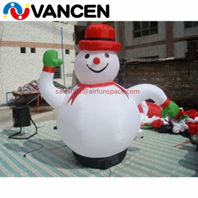 Customized design 4mH inflatable snowman for home yart high quality inflatable christmas snowman for advertising