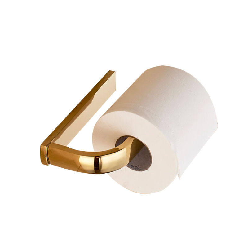 Antique Luxury Square Toilet Paper Holder Brushed Solid Brass Tissue Holder Toilet Paper Holder Wall Mount Roll Holder meifuju vintage toilet paper holder with shelf wall mount bathroom accessories bronze paper holders antique brass roll holder