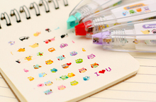 New Arrival Kawaii Animals Press Type Decorative Correction Tape Diary Stationery School Supply