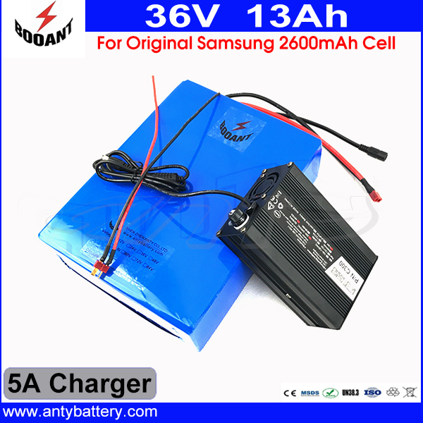 For Original Samsung 18650 Cell Electric Bike Battery 36V 13AH Lithium Battery 36V For Bafang Motor 800W With 5A Charger 30a 3s polymer lithium battery cell charger protection board pcb 18650 li ion lithium battery charging module 12 8 16v