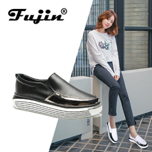 цены Fujin Brand Women Casual loafers Breathable Summer Flat Shoes Woman Slip on Casual Shoes New Zapatillas Flats Shoes Good Quality
