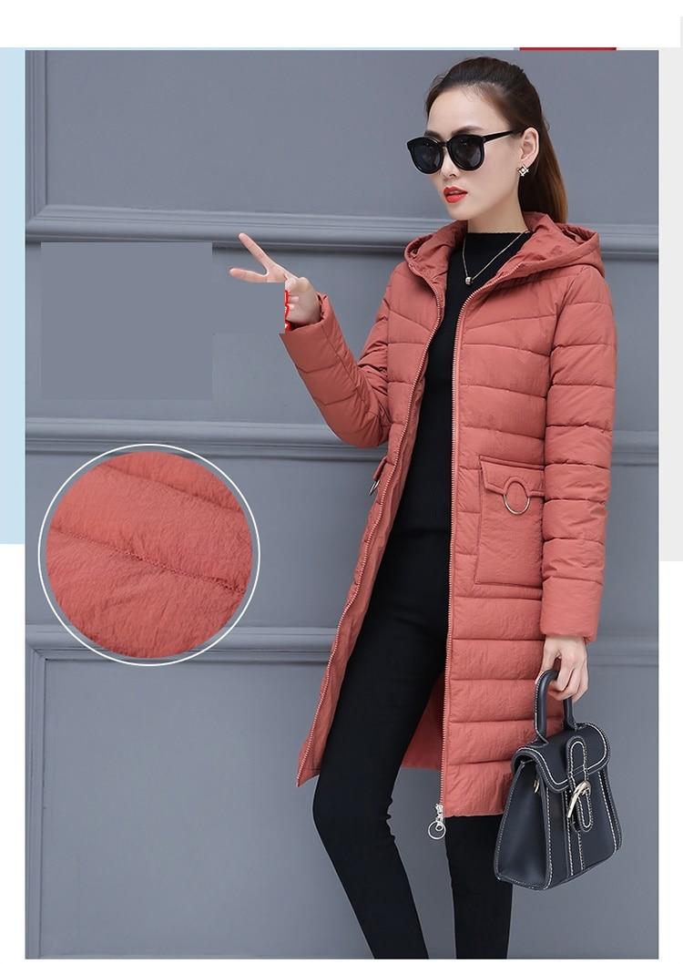 d28f54b333400 Hiver Nouvelle Manches Long Épaississent Red red Manteau La 3xl653 À Rose  Coton D hiver brown Longues Vêtements ...