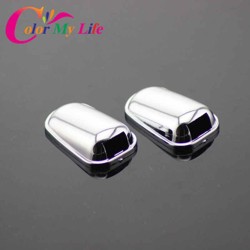 2Pcs/Set ABS Chrome Sprinkler Head Water Spray Nozzle Wiper Water-jet Cover Trim For Ford Focus 2 MK2 For New Focus 3 4 MK3 MK4