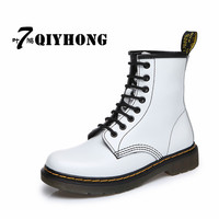 Zapatos MujerWoman Ankle Boots Shoes Woman Spring And Autumn Genuine Leather Lace Up Land Shoes Punk