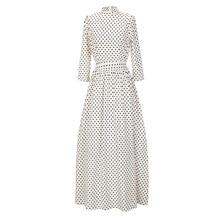 S-2XL new long sleeve vintage dress elegant fresh retro dot slim spring autumn casual leiusre brand maxi