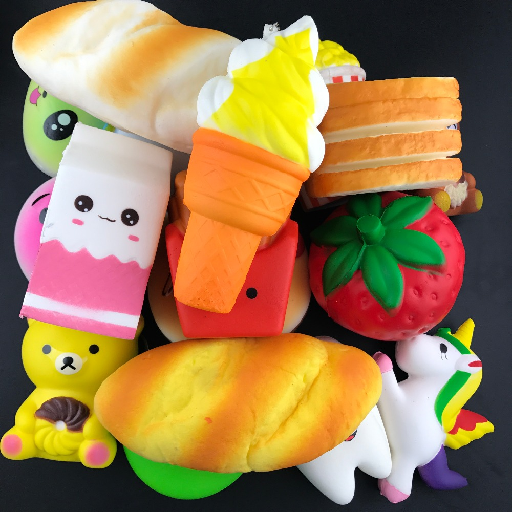 50pcs/lot DHL Free <font><b>Squishy</b></font> Food Slow Rising Squeeze toys Soft Bread/Cake/ice Cream/Banana <font><b>Fruit</b></font> Fun Kids squishies Toys Gift image