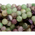"Discount Wholesale Natural Genuine Rainbow Mix Color Green Purple Fluorite Round Loose Stone Jewelry Beads 3-18mm 15"" 03525"