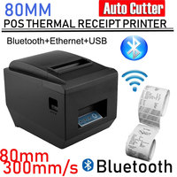 80mm Thermal Receipt Printer Auto Cutter Kitchen Restaurant POS USB Receipt Printer Wifi/Serial/Ethernet/USB/Bluetooth Printer