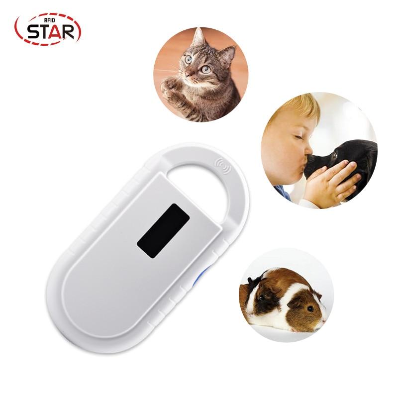 134.2KHz Animal Chip Scanner 11784/5 FDX-B ID64 Handheld Pet Reader Smaller Simpler Easier Pocket Animal Scanner For Pet Chip