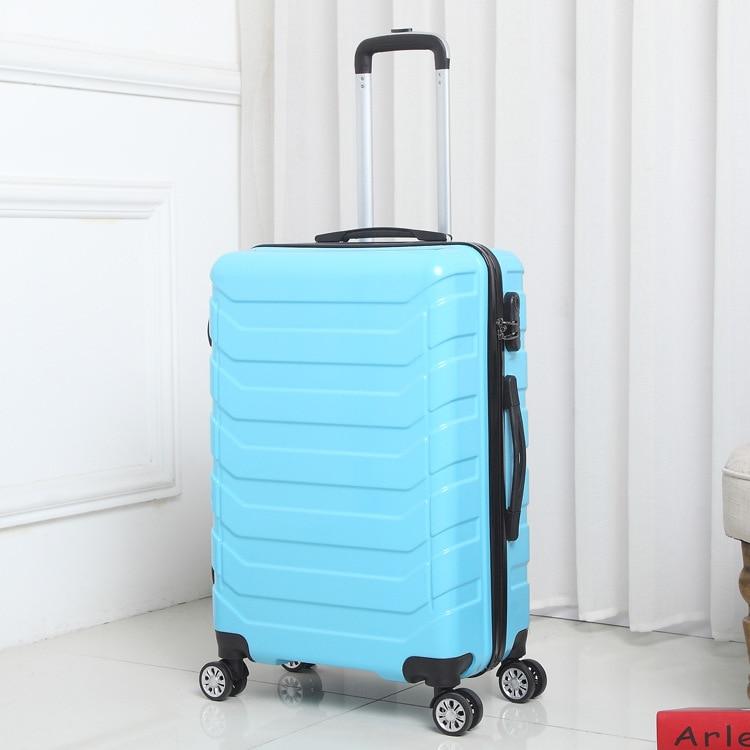 90FUN valise pc coloré porter sur roues Spinner bagages roulants TSA serrure voyage d'affaires vacances pour les femmes hommes - 4