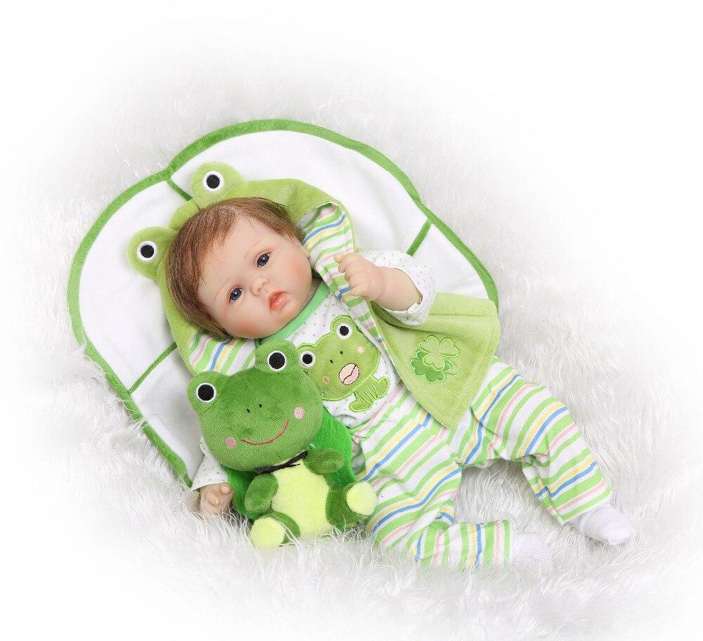 Npk 40 см силикона Reborn Baby Doll Дети Playmate подарок для девочек 16 дюймов BABY ALIVE мягкие Игрушечные лошадки для букетов кукла Bebe reborn