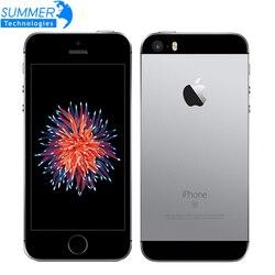 هاتف Apple iPhone SE أصلي مفتوح ثنائي النواة بشاشة 4.0 بوصات وكاميرا 12.0 ميجابكسل وذاكرة وصول عشوائي 2 جيجابايت وذاكرة قراءة فقط 16/64 جيجابايت وذاكرة قر...