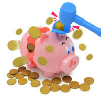 Novelty Cartoon Piggy Bank Explosion Pig Game Toys for Children Funny Birthday Gift Relief Stress Interactive Toy 1258