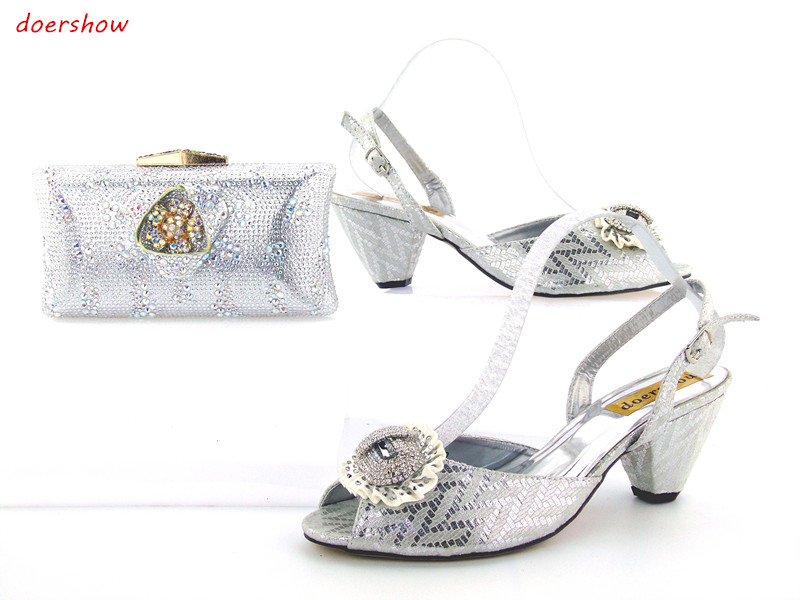 doershow African Shoes and Bag To Match High Quality Italian Shoe and Bag Set Nigerian Party Shoe and Bag Set Wedding JK1-19 capputine african style shoes and bag to match high quality italian shoes and bag set nigerian party shoe and bag set wedding