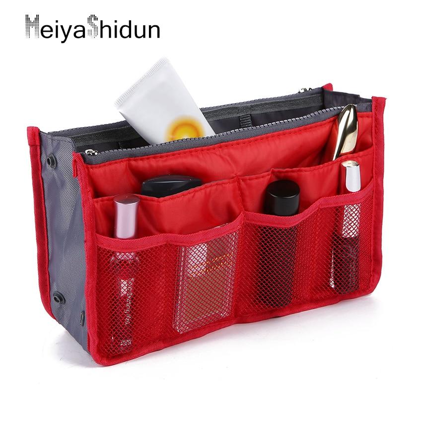 MeiyaShidun Multifunction Make up Organizer Bag Men Travel Pockets toiletry kit Women Cosmetic Bag Storage Makeup Handbag Bolsas