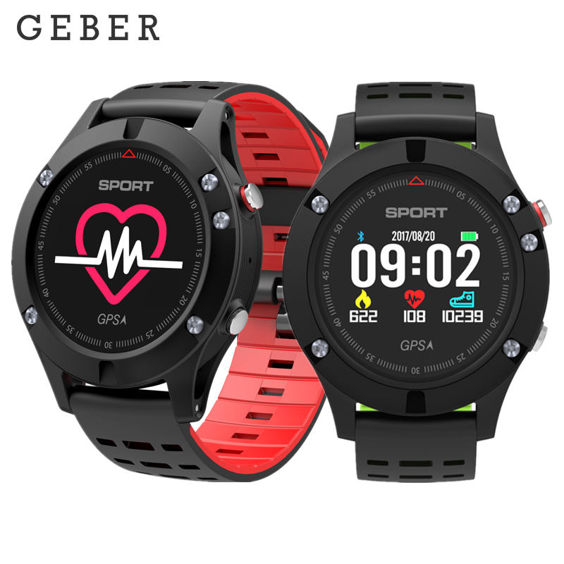 GEBER Heart Rate Monitor GPS Multi-Sport Mode OLED Altimeter Bluetooth Fitness Tracker IP67 BRIM F5 Smartwatch Smart Wristband colmi v11 smart watch ip67 waterproof tempered glass activity fitness tracker heart rate monitor brim men women smartwatch