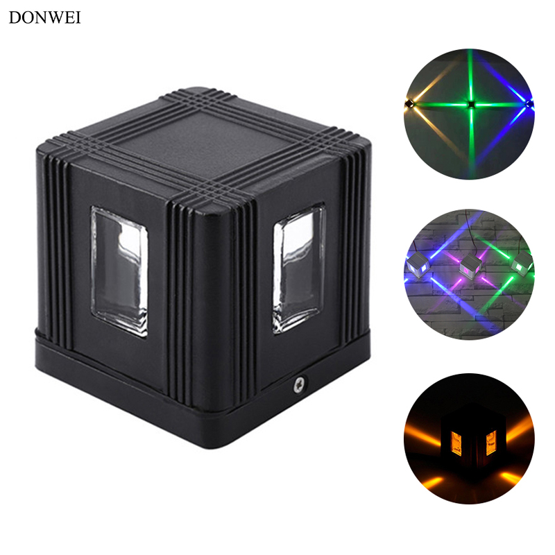 Donwei 3w Led Porch Light Spotlight Outdoor Decorative Waterproof Ip65 Aluminum Wall Lamp For Hotel Building Yard Corridor Chills And Pains Lights & Lighting Led Outdoor Wall Lamps