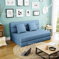 Sofabed Multi function Folding Sofa Bed Small Household Cloth Art Dismantling Bedroom Living Room Dual Use Couch Bed Furniture