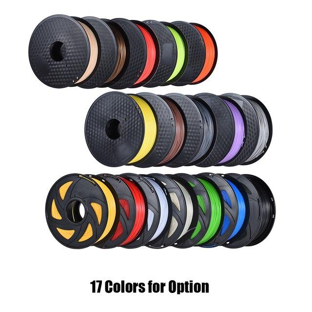 Anet пластиковое волокно abs 3D-принтеры нити 1 кг/рулон 2.2lb 1,75 мм для MakerBot Anet 3D-принтеры Ручка 17 Цвета опционально