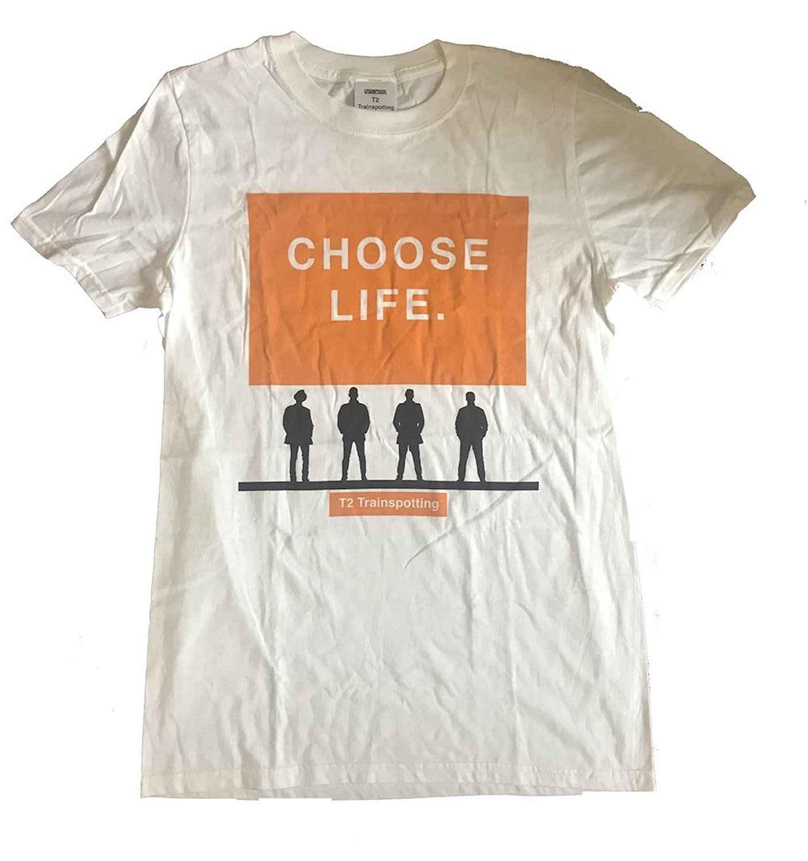 Trainspotting-T2 選択生活-公式メンズ Tシャツ半袖コットンファッション Tシャツ送料無料クラシック