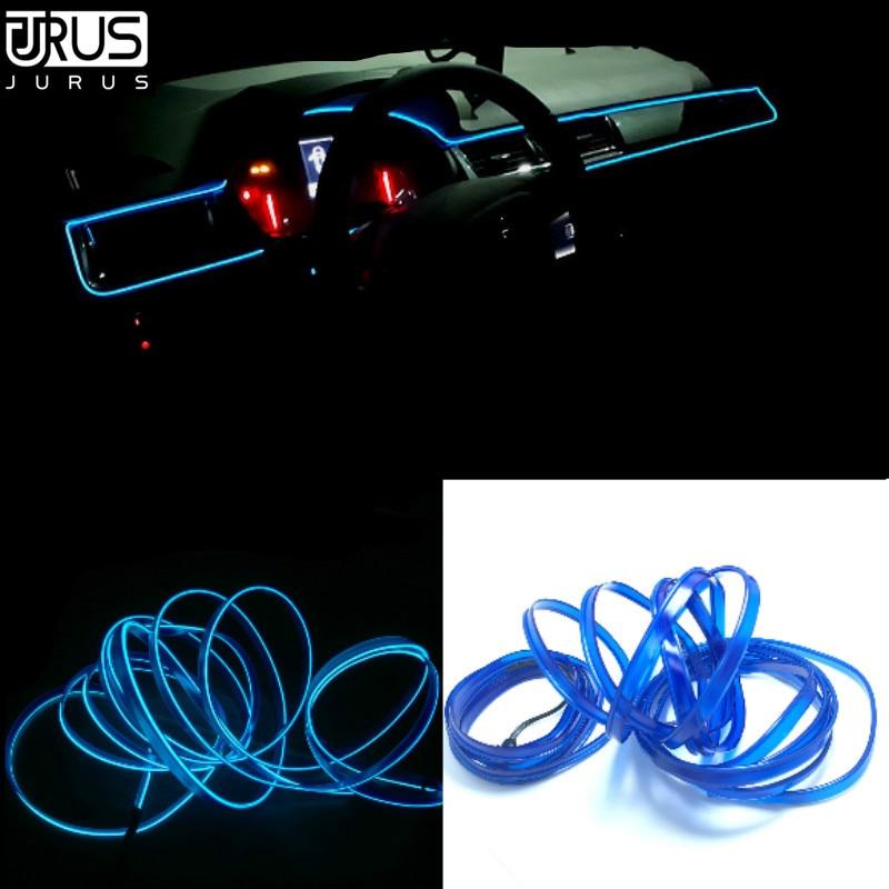 JURUS auto-styling 3 meter refit innen licht flexible neon el licht ...