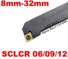 Ángulo 95 SCLCR0808F06 SCLCR1010H06 SCLCR1212H09/06 SCLCR1616H09 SCLCR2020K09 SCLCR2525M09/12 SCLCR3232P12 SCLCL NC herramientas de torneado