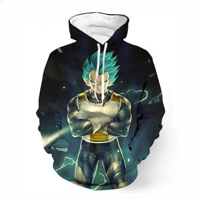 3D Dragon Ball Z Super Saiyan Pocket Sweatshirt Hoodie