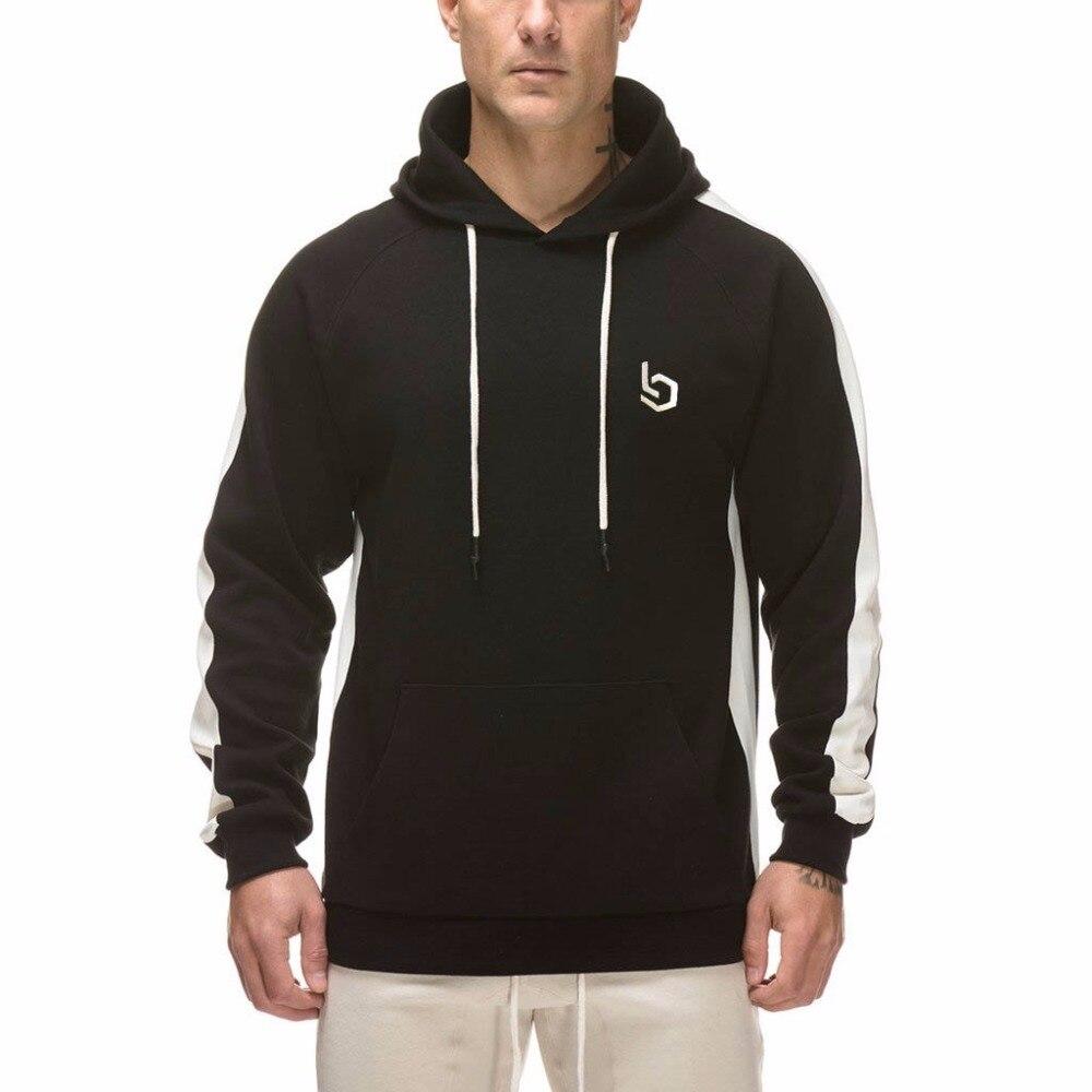 2018 ensembles pour hommes 2 pièces sweats hommes survêtement pull à capuche et pantalons bandes sweat à capuche Sportswear vêtements pour hommes - 3