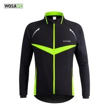 Wosawe велоспорт мужские куртки clothing ciclismo велосипед мотокросс фитнес ветрозащитный светоотражающие тепловая джерси пальто